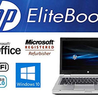 Sleek Enhanced Laptop PC - EliteBook 8470P - 14-Inch LED – Dual-Core i7 Processor (Turbo Boost 3.6GHz) - Upgraded to 12GB DDR3 RAM- 'New' 120GB Solid State Drive SSD - Windows 10 Pro- DVD±RW - USB 3.0