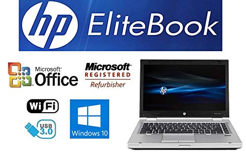 Sleek Enhanced Laptop PC - EliteBook 8470P - 14-Inch LED – Dual-Core i7 Processor (Turbo Boost 3.6GHz) - Upgraded to 16GB DDR3 RAM- 'New' 120GB Solid State Drive SSD - Windows 10 Pro- DVD±RW - USB 3.0