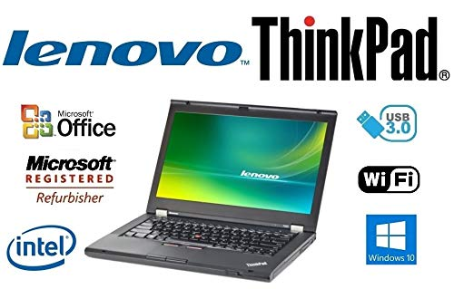 Custom Notebook PC – ThinkPad T430 - 14 Inch LED - 3rd Gen Core i5-3320M 2.6GHz – Upgraded to 8GB DDR3 RAM - 'New' 1TB HDD - Windows 10 Professional - DVD±RW - USB 3.0 - WiFi