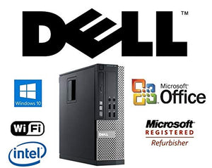 Custom Fast Optiplex SFF Intel i5-Quad Core 3.1GHz CPU 8GB DDR3 RAM New 256GB Solid State Drive SSD Windows 10 Pro + MS Office WiFi DVD-RW