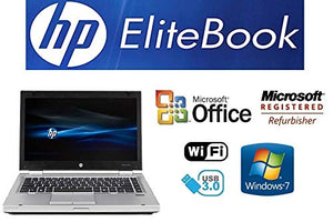 Sleek Enhanced Laptop PC - EliteBook 8470P - 14-Inch LED – Dual-Core i7 Processor (Turbo Boost 3.6GHz) - Upgraded to 16GB DDR3 RAM- 'New' 120GB Solid State Drive SSD - Windows 7 Pro - DVD±RW - USB 3.0