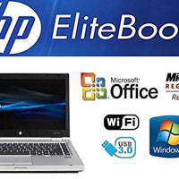 Sleek Enhanced Laptop PC - EliteBook 8470P - 14-Inch LED – Quad-Core i7 Processor (Turbo Boost 3.3GHz) - Upgraded to 8GB DDR3 RAM - 'New' 120GB Solid State Drive SSD - Windows 7 Pro - DVD±RW - USB 3.0
