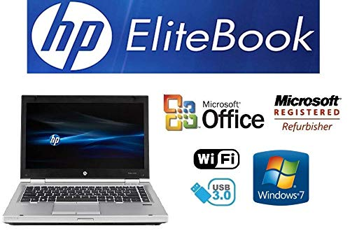 Upgraded Laptop PC - EliteBook 8470P – 14 Inch LED - Intel i5-3320M 2.6GHz (Turbo Boost 3.3GHz) - 8GB DDR3 RAM - 'New' 512GB Solid State Drive - Windows 7 Professional - DVD±RW - USB 3.0