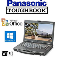 "Panasonic CF-53 Toughbook Rugged Laptop - 14"" Touchscreen - Core i5 CPU - New 1TB HDD - 12GB RAM - Windows 10 Pro - WiFi - DVD/CD-RW"