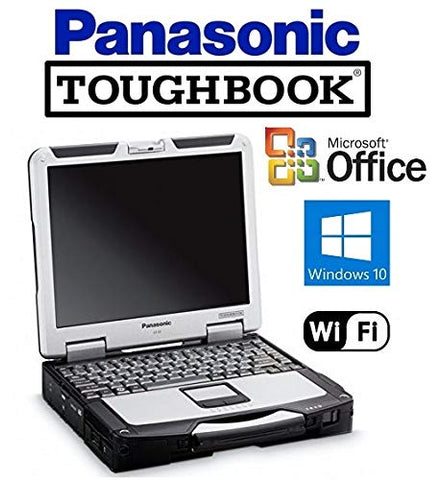 Panasonic CF-31 Toughbook Laptop - Intel Core i5 2.5GHz CPU - New 1TB SSD Solid State Drive- 16GB DDR3 - 13.1in Touchscreen - DVD/CD-RW - WiFi - Win 10 Pro + MS Office (Renewed)