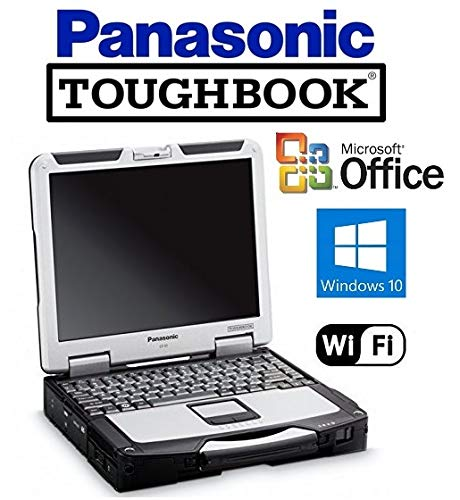 "CF-31 Panasonic Toughbook System - Intel Core i5 2.5GHz CPU - New 120GB SSD Preinstalled with Win 10 Pro & MS Office - 8GB RAM - 13.1"" Touchscreen - WiFi - DVD/CD-RW"