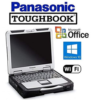 "Rugged Panasonic CF-31 Toughbook Laptop - Intel Core i5 2.5GHz CPU - 16GB RAM - New 120GB SSD - 13.1"" Touchscreen Display - Windows 10 Pro + MS Office"