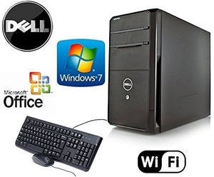 Dell Vostro Quad Core i5 3.1GHz HDMI Gaming Tower Windows 7 Pro 8GB RAM New 3TB HDD + 4GB NVIDIA GT730 Video Card WiFi Desktop PC Computer System + MS Office