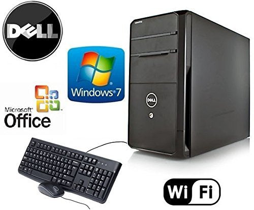 Dell Gamer Vostro Tower Quad Core i5 3.1GHz HDMI Windows 7 Pro 8GB RAM New 2TB HDD + 4GB NVIDIA GT730 Video Card WiFi Desktop PC Computer System + MS Office