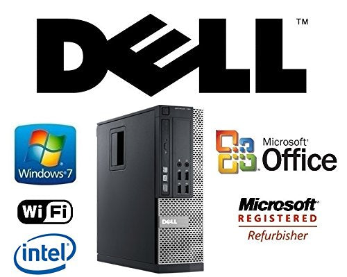 Optiplex 990 Intel Quad Core i7-2600 3.4GHz Windows 7 Pro / 16GB RAM/New 512GB Solid State Drive SSD/WiFi/Desktop Computer Tower + MS Office