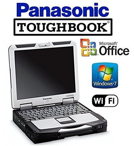 "CF-31 Panasonic Toughbook System - Intel Core i5 2.4GHz CPU - New 120GB SSD Preinstalled with Win 7 Pro & MS Office - 8GB RAM - 13.1"" Touchscreen - WiFi - DVD/CD-RW"