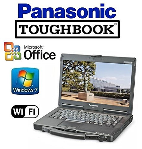 "Panasonic CF-53 Toughbook Rugged Laptop - 14"" TOUCHSCREEN - i5 2.5GHz CPU - 512GB Solid State Drive - 8GB RAM - Windows 7 Pro + MS Office - WiFi - DVD/CD-RW (Renewed)"