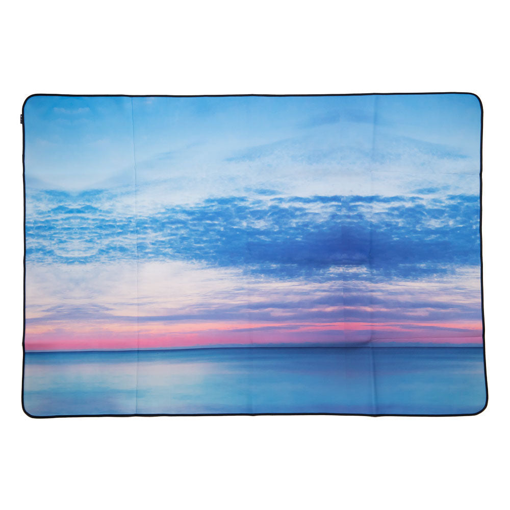 Neoprene Picnic Blanket - Aqua Mornings (NO PYLON)