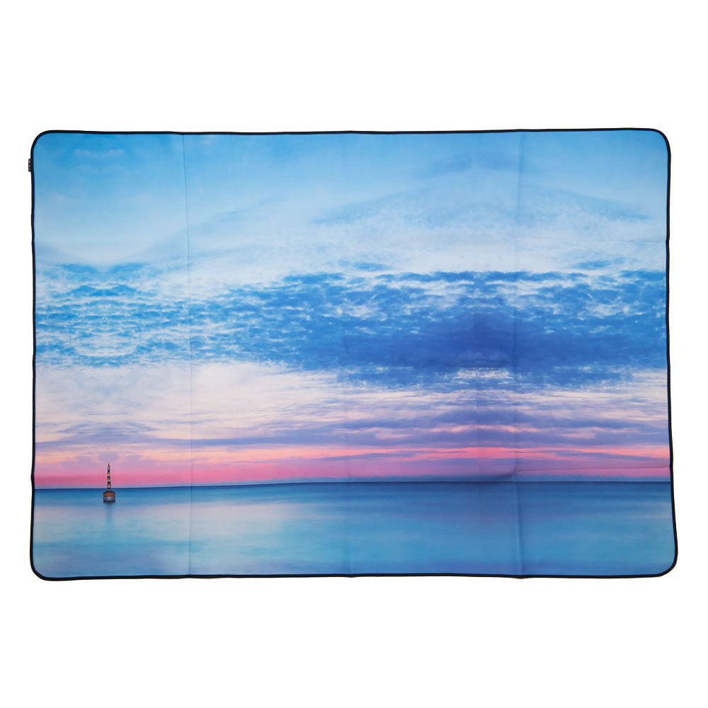 Neoprene Picnic Blanket - Aqua Mornings