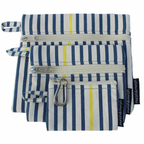 Cove Pouches - Blue