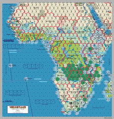 World in Flames 7 Africa Map
