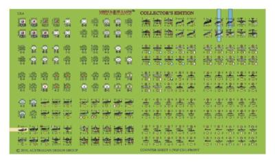 WiF Collector's edition Countersheets (each)