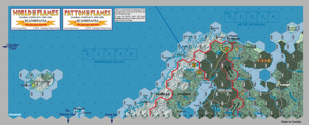 World In Flames Collector S Edition Hard Mounted Scandinavian Map New Australian Design Group