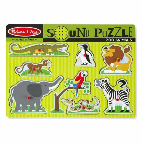 10727 M&D Sound Puzzle Zoo Animals (T)