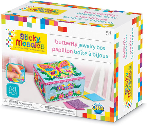 51105 Orb Sticky Mosaics butterfly jewelry box (T)