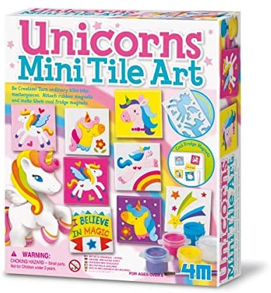 04740 4M Unicorns Mini Tile Art (T)