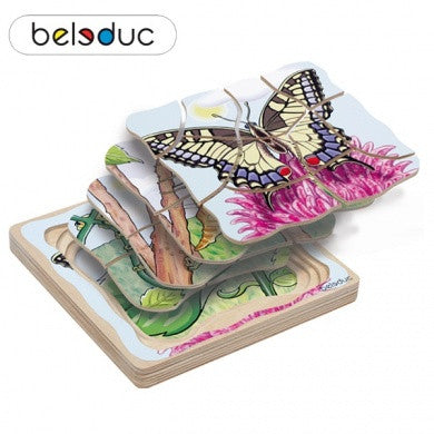 17054 Beleduc Five Layer Puzzle Butterfly