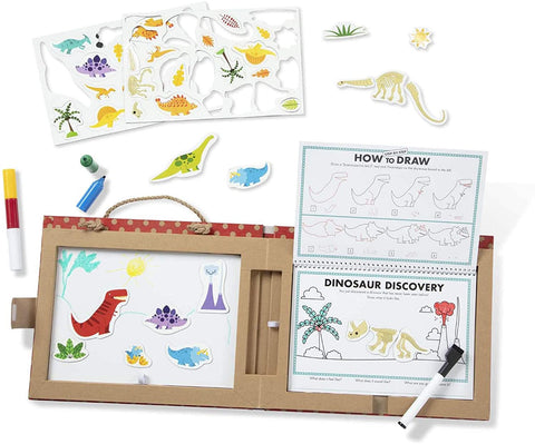 41321 M&D Play - Draw Create Reusable Drawing and Magnet Kit Dinosaurs