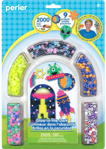 80-62987 Perler Glow in the Dark Bead blister