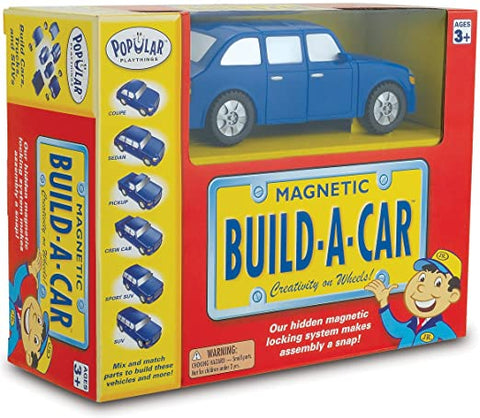 60101 Popular Playthings Magnetic Build a Car