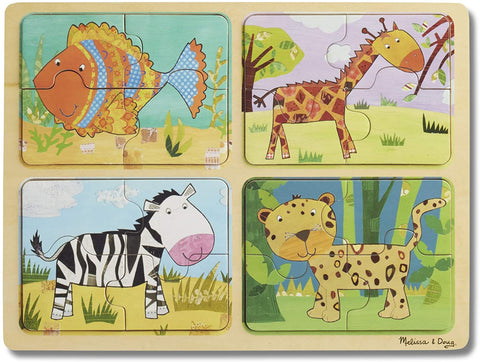 41362 M&D Natural Play Wooden Puzzle Animal Patterns