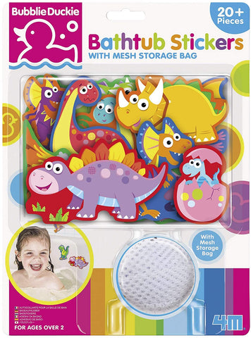 04747 4M Bubblie Duckie Bathtub Stickers Dinosaurs (T)