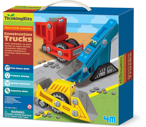 04673 4M Thinking Kits Construction Trucks