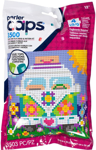 80-11148 Perler Caps Beads & Pattern Kit Bus