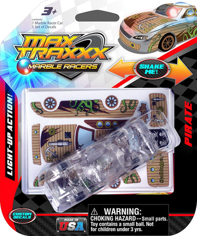 08612 Skullduggery Marble Racers Max Traxxx Light Up Pirate