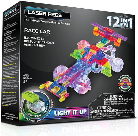 G870B Laser Pegs Race Car Twelve in One