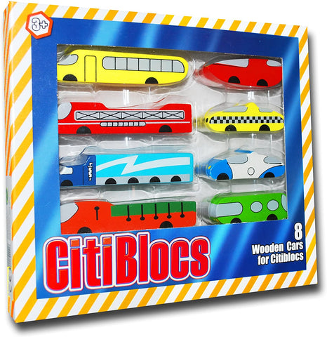0BCTBCR8 Citiblocs Wooden Cars (T)