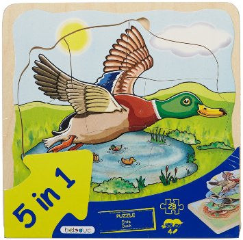 17055 Beleduc Five Layer Puzzle Duck