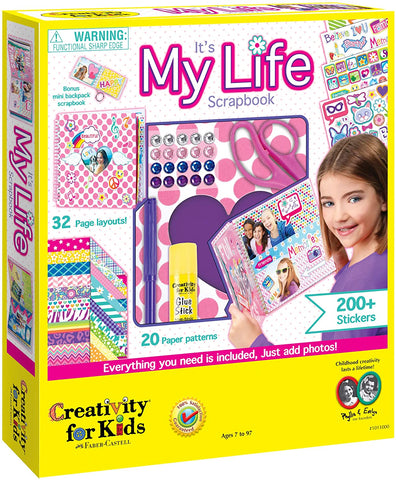 CFK-1011000 Creativity for Kids Scrapbook Kit It's My Life