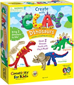 CFK-6174000 Creativity for Kids Create with Clay Dinosaurs