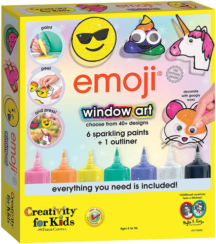 CFK-6176000 Creativity for Kids Emoji Window Art