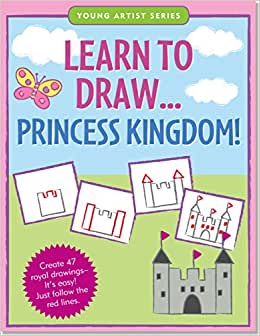 J5589 Peter Pauper Young Artist Series Learn to Draw... Princess Kingdom