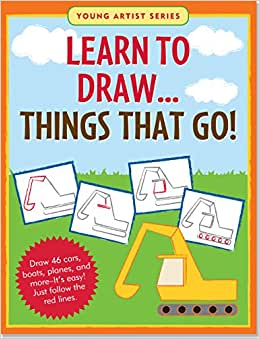 J6028 Peter Pauper Young Artist Series Learn to Draw... Things that Go