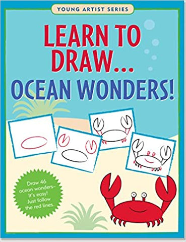 J6042 Peter Pauper Young Artist Series Learn to Draw... Ocean Wonders