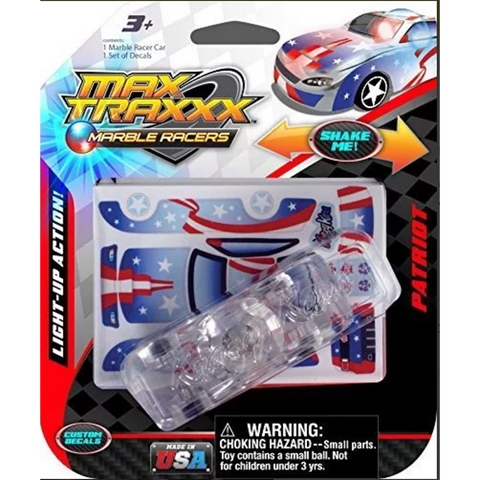 08611 Skullduggery Marble Racers Max Traxxx Light up Patriot