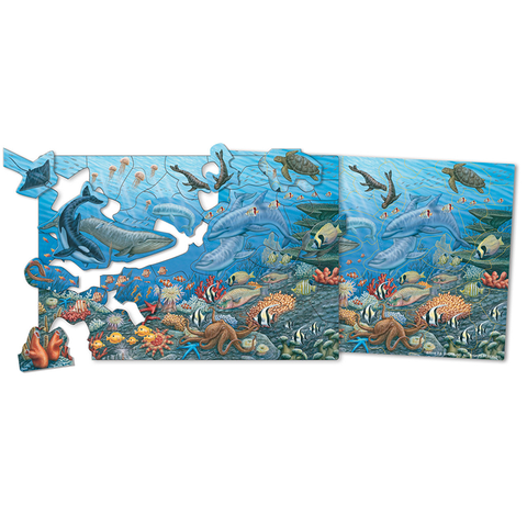 0544 Shure Amazing Ocean Life Magnetic Puzzle & Playboard (T)