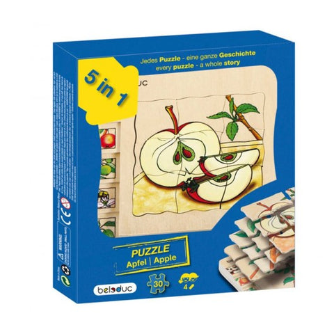 17039 Beleduc Five Layer Puzzle Apple