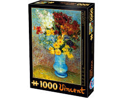 66916 VG 02 DToys Flowers in Blue Vase, Vincent Van Gogh