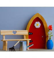 FD554153 Irish Fairy Door 4 Piece Garden Set (T)