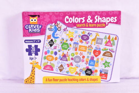 77915 Clever Kids Colors & Shapes search & learn puzzle