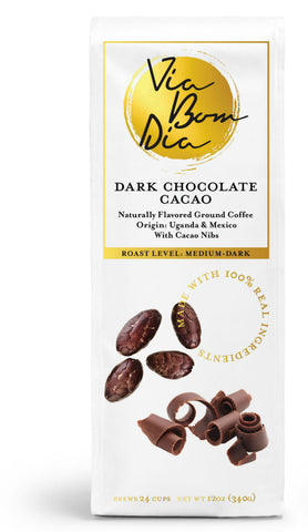 Dark Chocolate Ground Coffee - Available on Amazon
